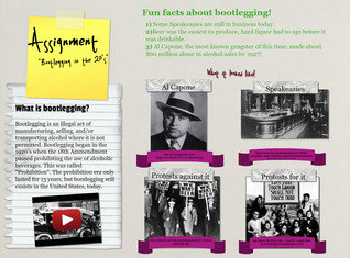 Bootlegging in the 20's, (Assignment), History