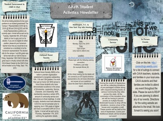 Cava Student Activities Newsletter