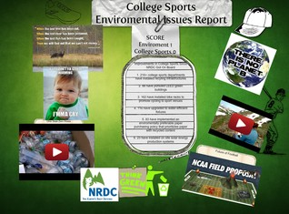College sports Enviromental issues