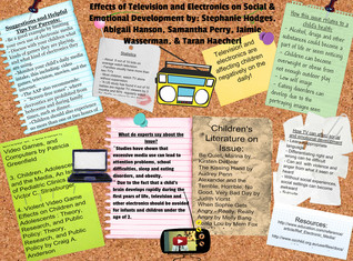 Effects of Television and Electronics on Social & Emotional Development