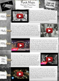 Rock Music - Features Of Rock Music 1950-Present