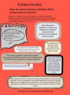 Extracurricular Activities- Critically Reading the Research