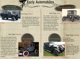 History of the Early Automobile