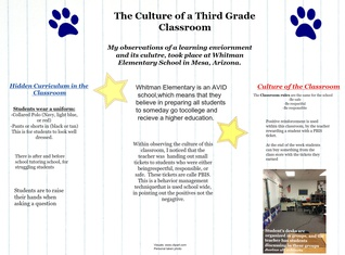 Learning Environment and Culture Observations
