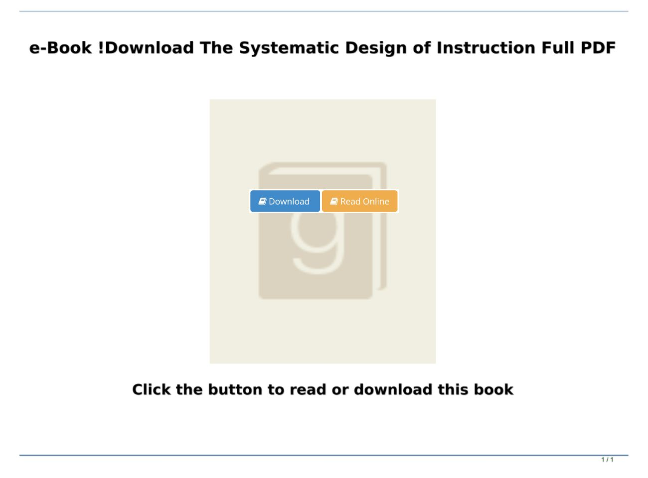 Read Pdf The Systematic Design Of Instruction Full Pdf Text Images Music Video Glogster Edu Interactive Multimedia Posters