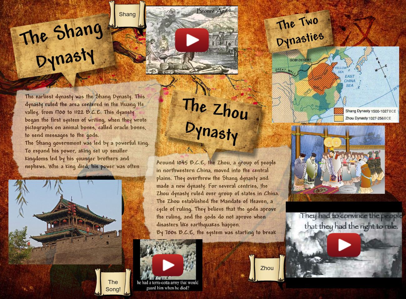 The Shang and Zhou Dynasty