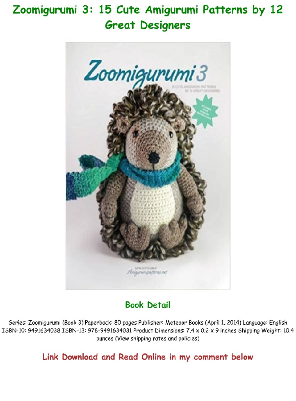 20 Free Amigurumi Patterns to Melt Your Heart | 1300x960