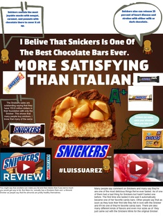 Snickers Glogster