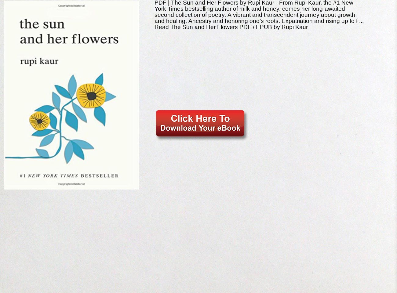 Pdf The Sun And Her Flowers Rupi Kaur Text Images Music