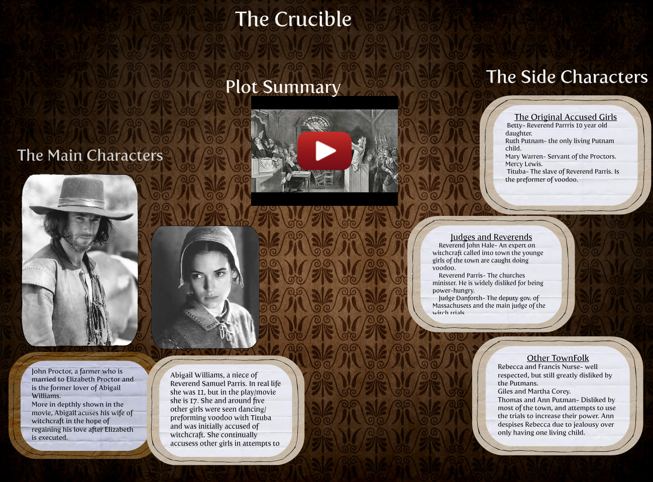 The Crucible Movie (English Project)
