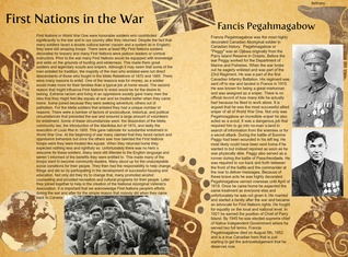 First Nations in the War