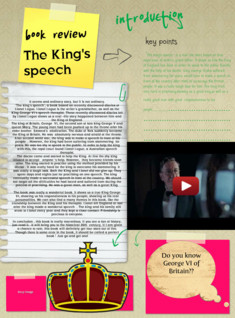 Holiday assignment -- book review on the King's speech