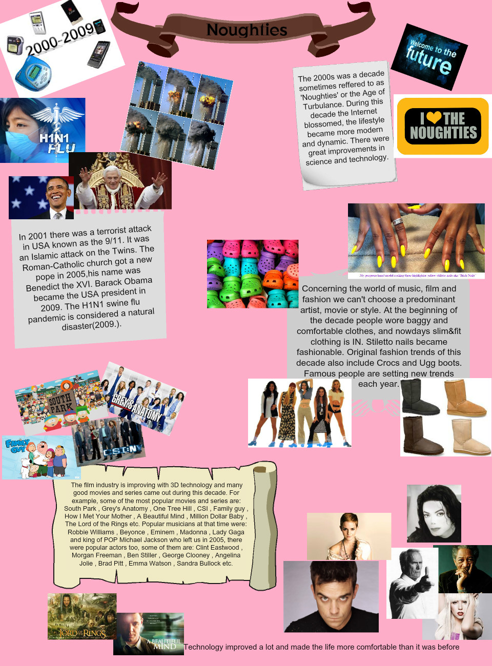The Noughties by Sanja: text, images, music, video | Glogster EDU