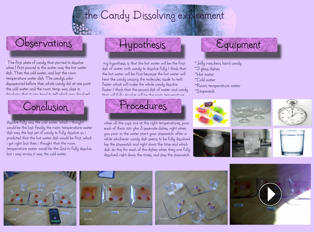 The Candy Dissolving Experiment