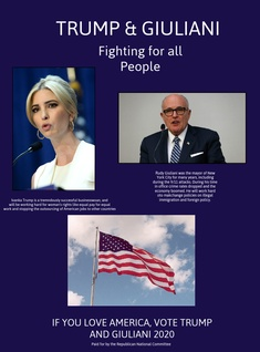Ivanka Trump and Rudy Giuliani Campaign Poster