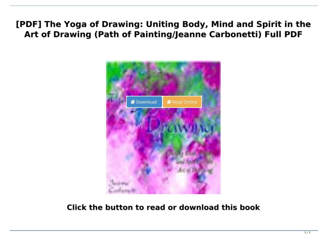 Download Pdf The Yoga Of Drawing Uniting Body Mind And Spirit In The Art Of Drawing Path Of P Text Images Music Video Glogster Edu Interactive Multimedia Posters