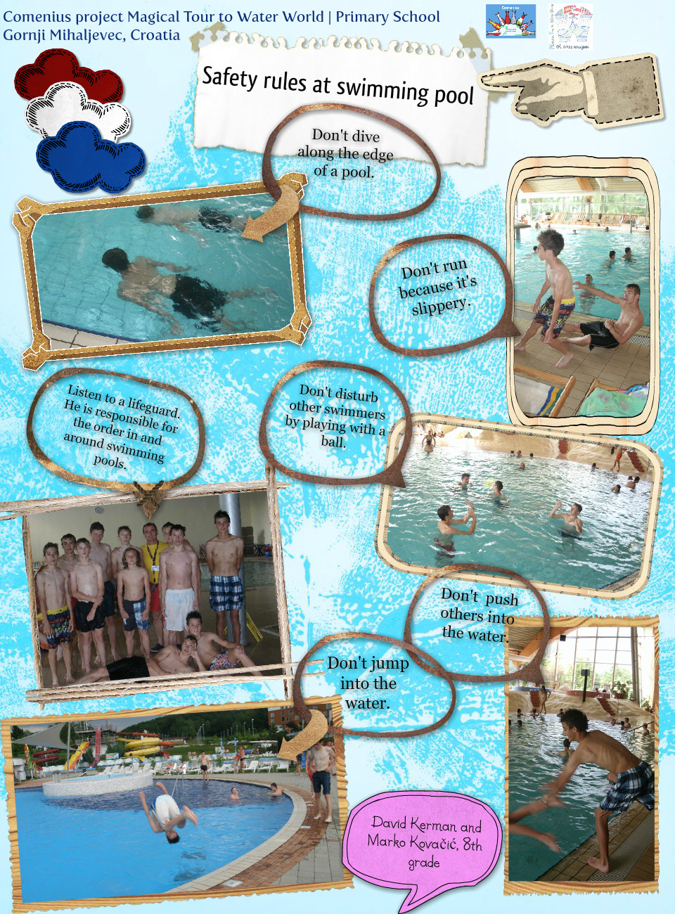 Safety rules at swimming pool
