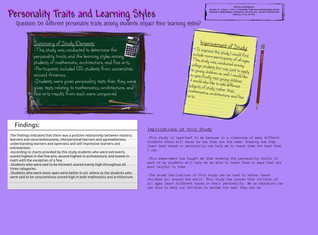 Personality Traits and Learning