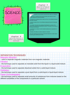 SCIENCE - CHAPTER 3 &4
