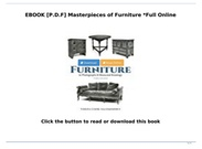 [P.D.F Download] Masterpieces of Furniture *Full Online's thumbnail